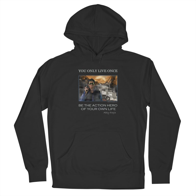 Action Hero t-shirt - Black Men's Pullover Hoody by Abby Eagle