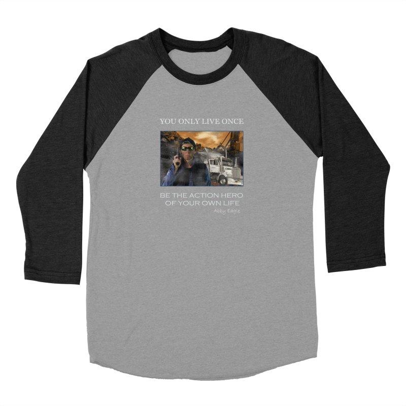 Action Hero t-shirt - Black Men's Longsleeve T-Shirt by Abby Eagle