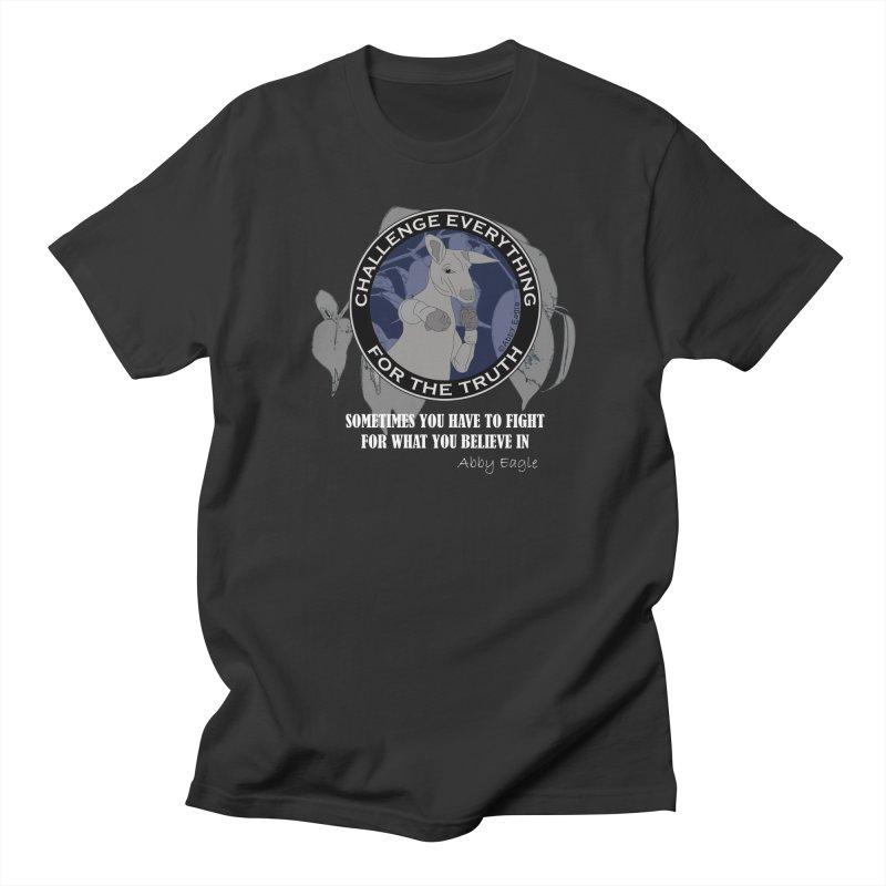Kangaroo t-shirt - blue Men's T-Shirt by Abby Eagle