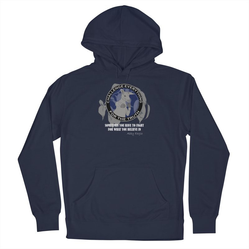 Kangaroo t-shirt - blue Men's Pullover Hoody by Abby Eagle