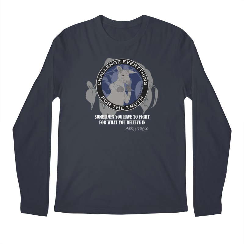 Kangaroo t-shirt - blue Men's Longsleeve T-Shirt by Abby Eagle