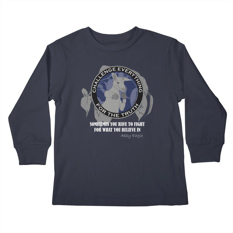 Kangaroo t-shirt - blue Kids Longsleeve T-Shirt by Abby Eagle