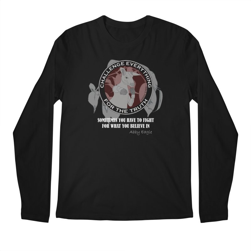 Kangaroo t-shirt - red Men's Longsleeve T-Shirt by Abby Eagle