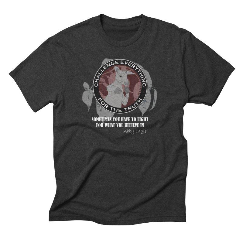 Kangaroo t-shirt - red Men's T-Shirt by Abby Eagle