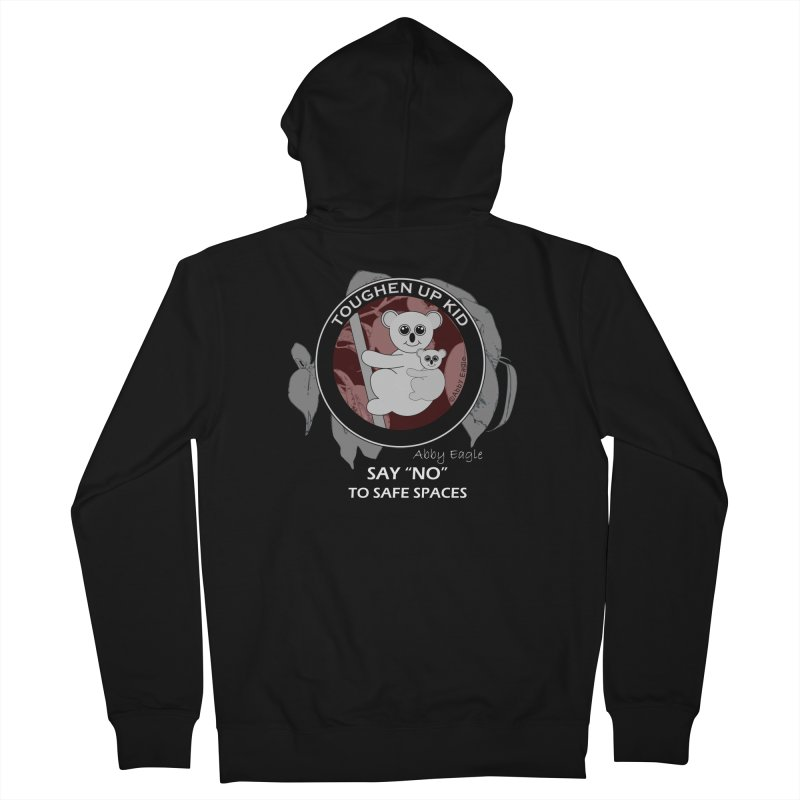 Koala t-shirt - red Men's Zip-Up Hoody by Abby Eagle