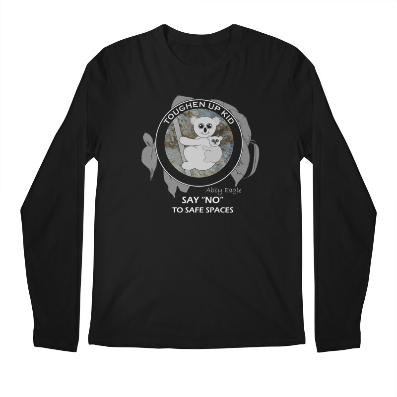 Koala t-shirt - rock face Men's Longsleeve T-Shirt by Abby Eagle