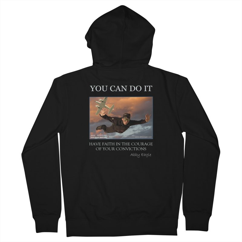 Skydive t-shirt Men's Zip-Up Hoody by Abby Eagle