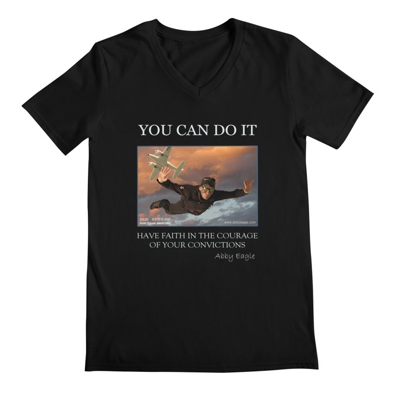 Skydive t-shirt Men's V-Neck by Abby Eagle