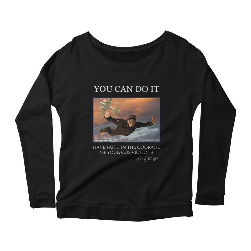 Skydive t-shirt Women's Longsleeve T-Shirt by Abby Eagle