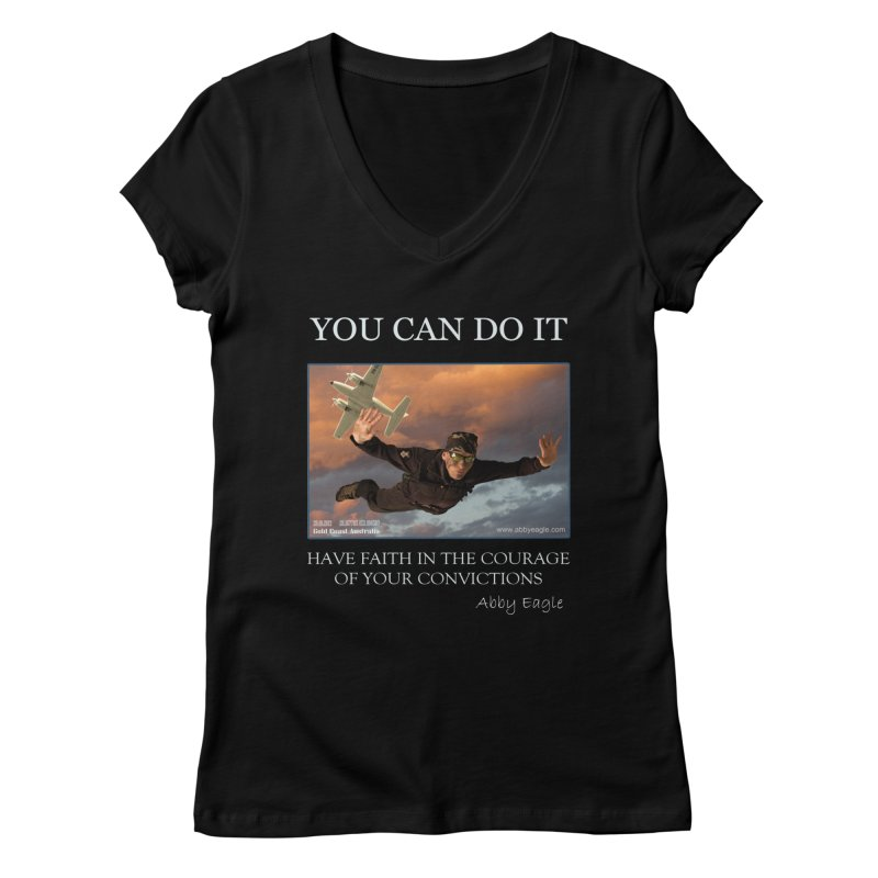 Skydive t-shirt Women's V-Neck by Abby Eagle