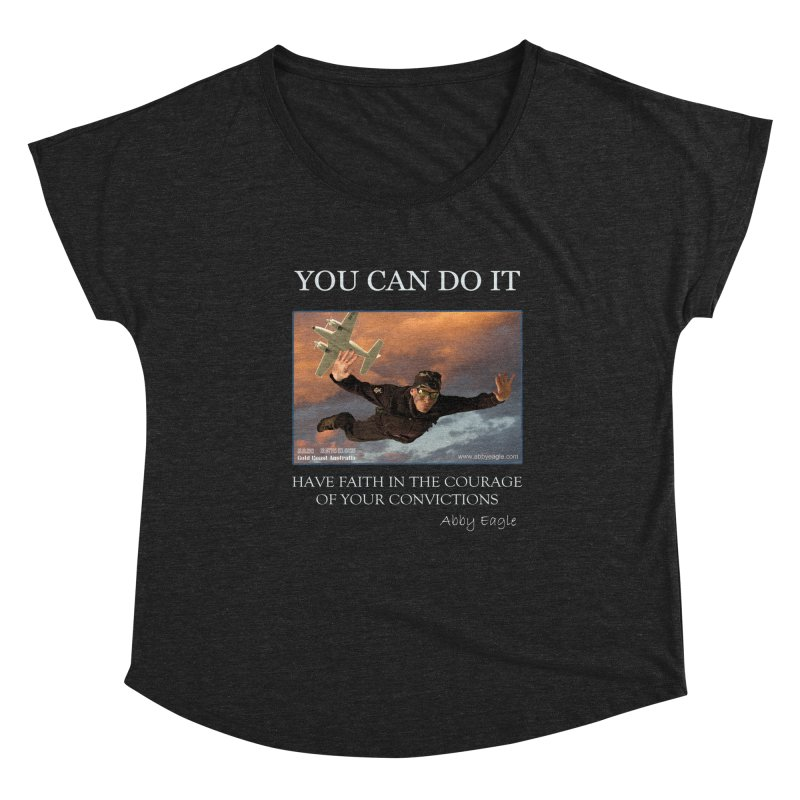 Skydive t-shirt Women's Scoop Neck by Abby Eagle