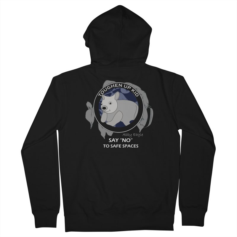 Wombat t-shirt - blue Men's Zip-Up Hoody by Abby Eagle