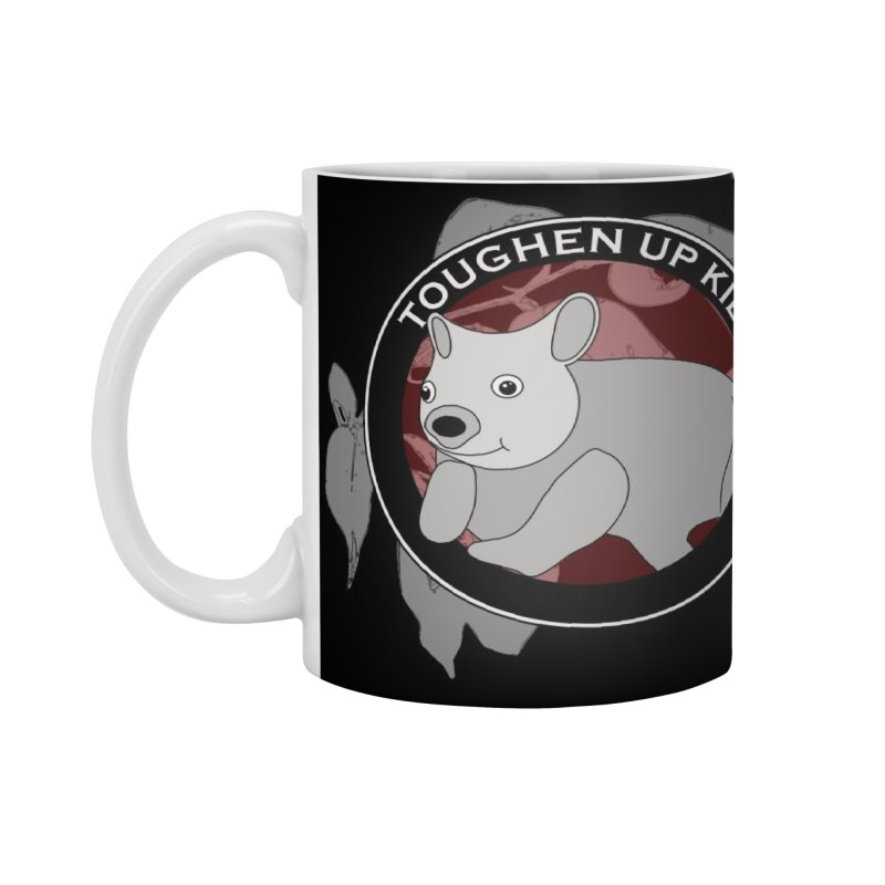 Wombat red - black mug Accessories Mug by Abby Eagle