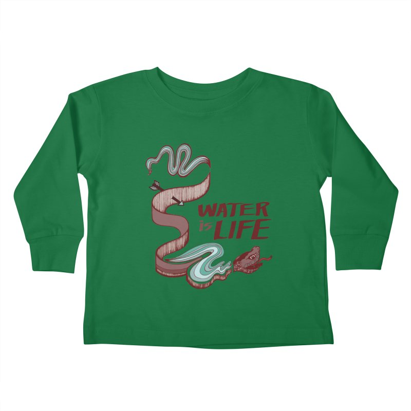 I Stand With Standing Rock Kids Toddler Longsleeve T-Shirt by abbyfitzgibbon's Artist Shop
