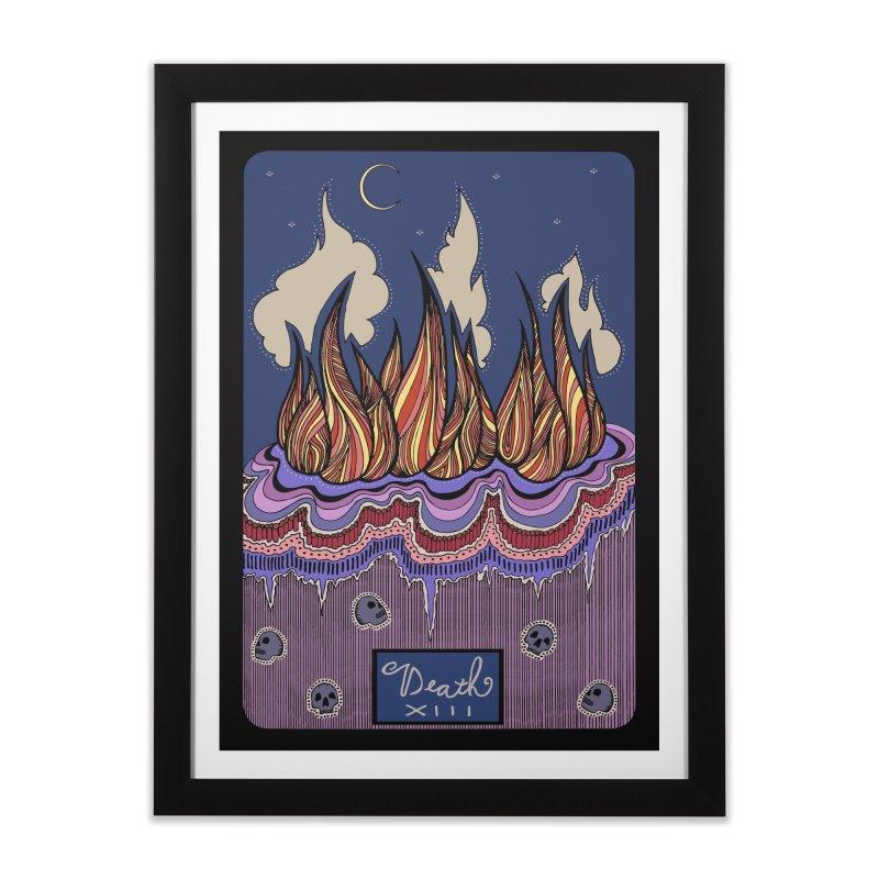 Original Illustrated Tarot Cards: the Death Card Home Framed Fine Art Print by abbyfitzgibbon's Artist Shop