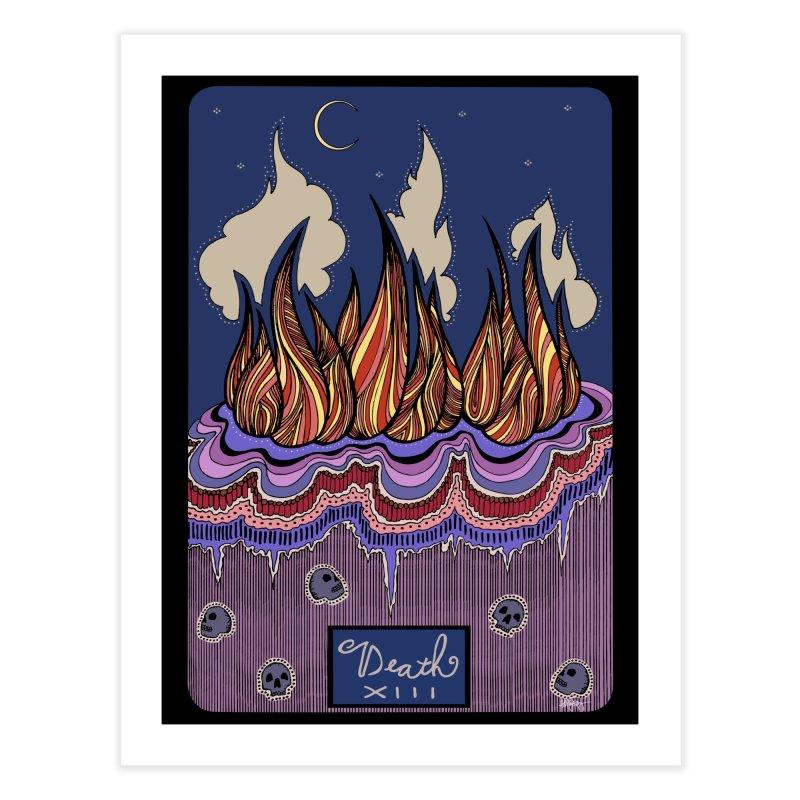 Original Illustrated Tarot Cards: Death Home Fine Art Print by abbyfitzgibbon's Artist Shop