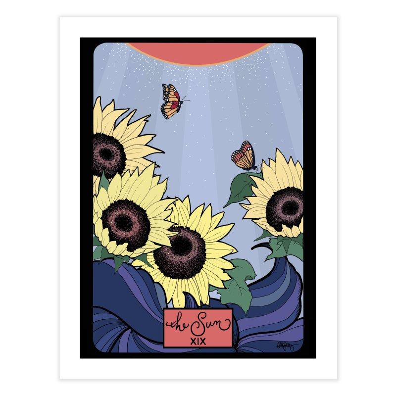 Original Illustrated Tarot Cards: The Sun Home Fine Art Print by abbyfitzgibbon's Artist Shop
