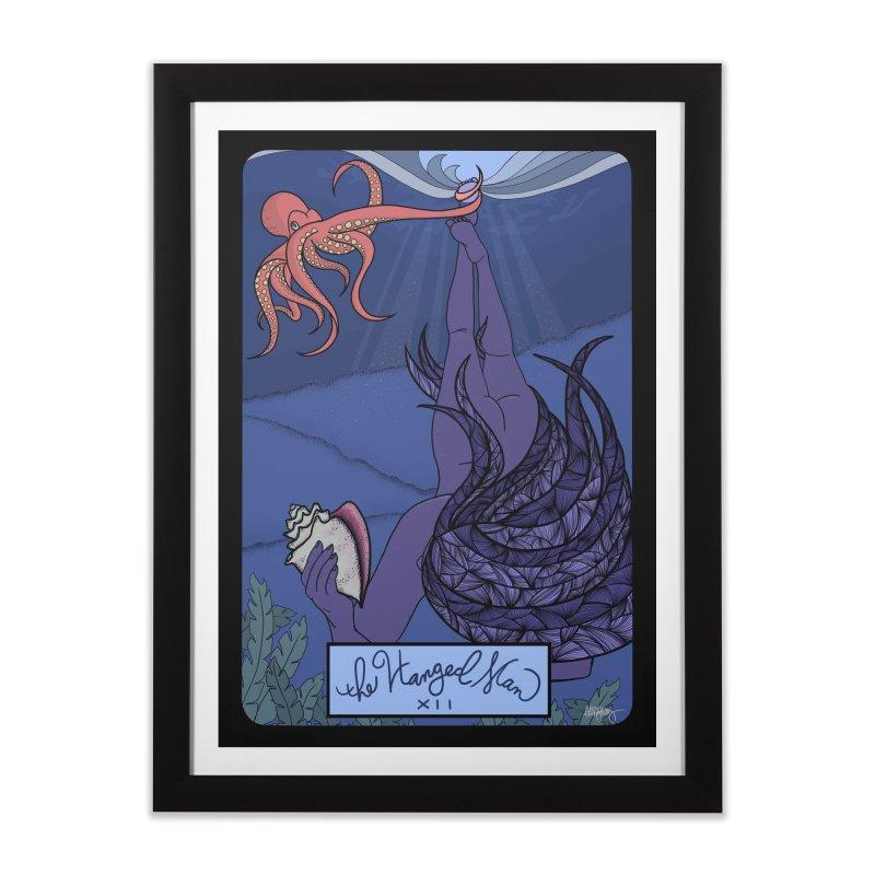 Original Illustrated Tarot Cards: The Hanged Man Home Framed Fine Art Print by abbyfitzgibbon's Artist Shop