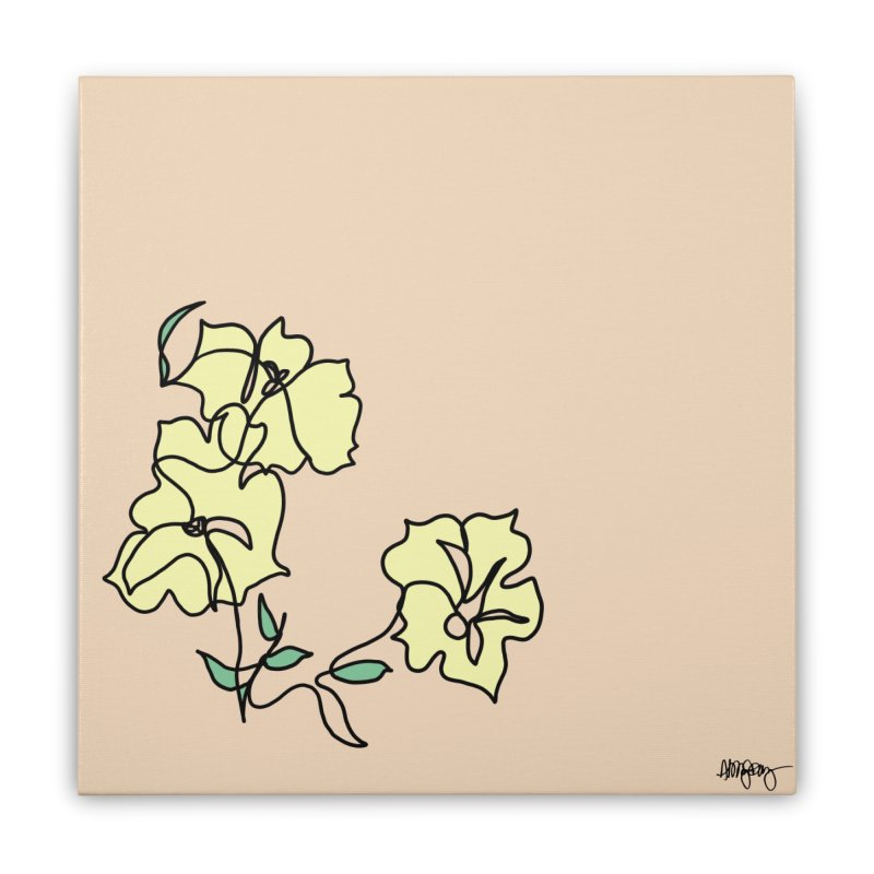 Baltimore @ Red Lights series: Druid Hill Park flowers Home Stretched Canvas by abbyfitzgibbon's Artist Shop