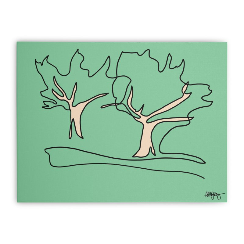 Baltimore @ Red Lights series: Druid Hill Park trees Home Stretched Canvas by abbyfitzgibbon's Artist Shop