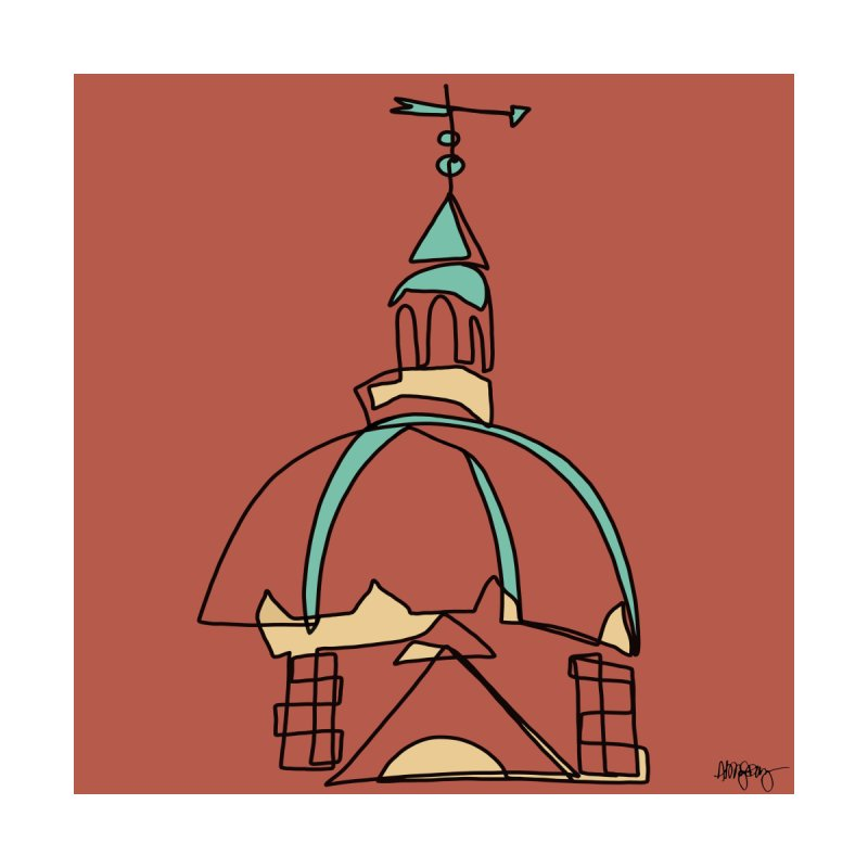 Baltimore @ Red Lights series: Johns Hopkins dome by Abby Fitz Gibbon's Artist Shop