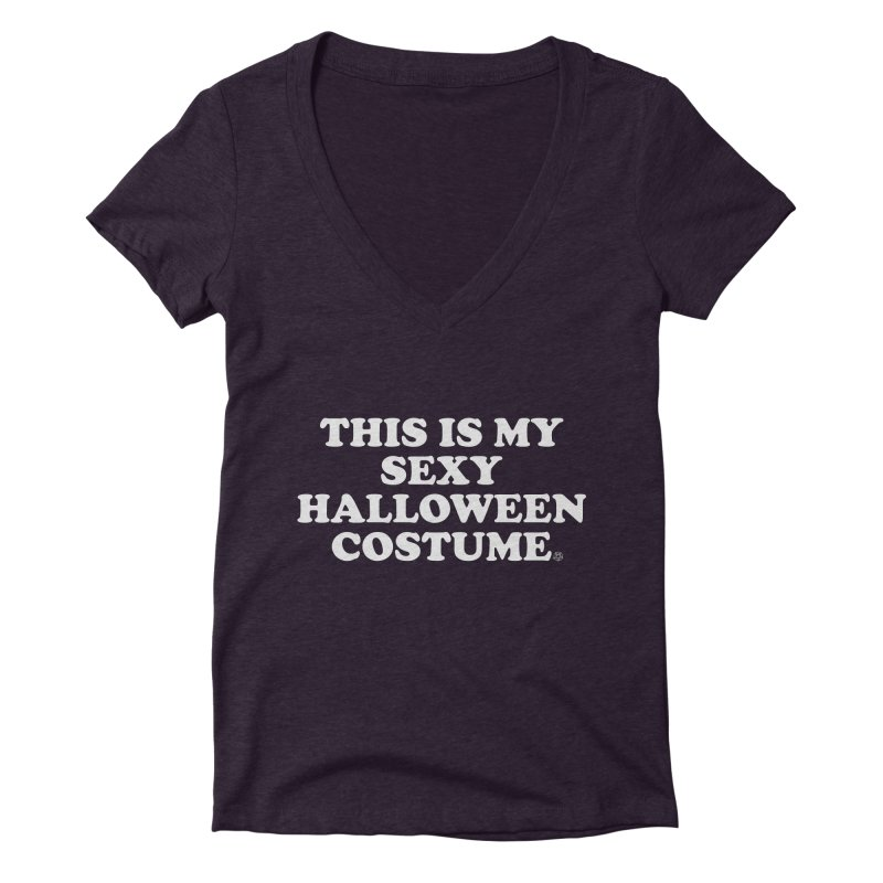 This Is My Sexy Halloween Costume Women's Deep V-Neck V-Neck by ABELACLE