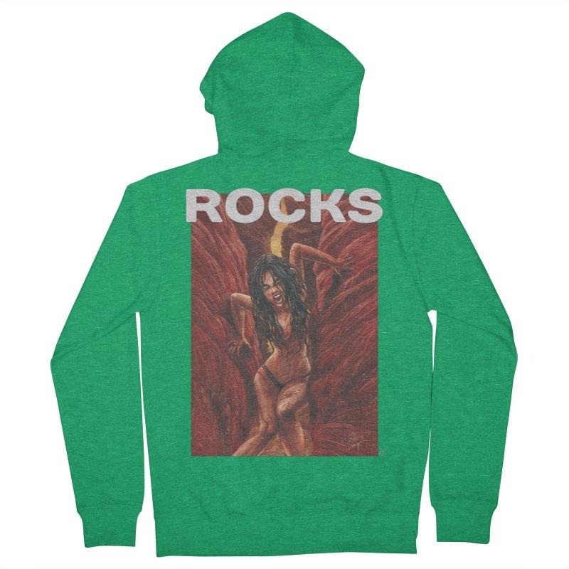 Rocks Women's Zip-Up Hoody by ABELACLE.