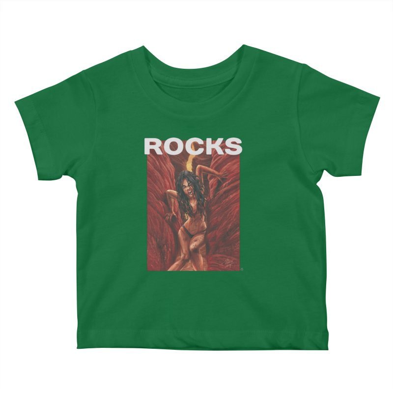 Rocks Kids Baby T-Shirt by ABELACLE.
