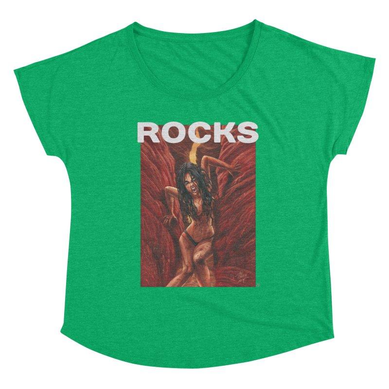 Rocks Women's Scoop Neck by ABELACLE.