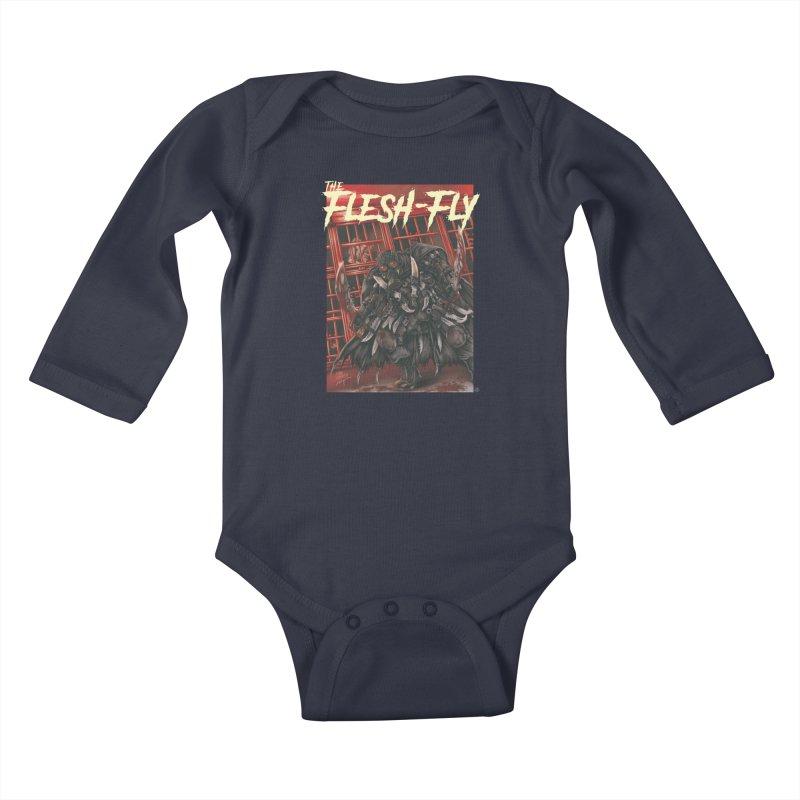 The Flesh Fly Kids Baby Longsleeve Bodysuit by ABELACLE.