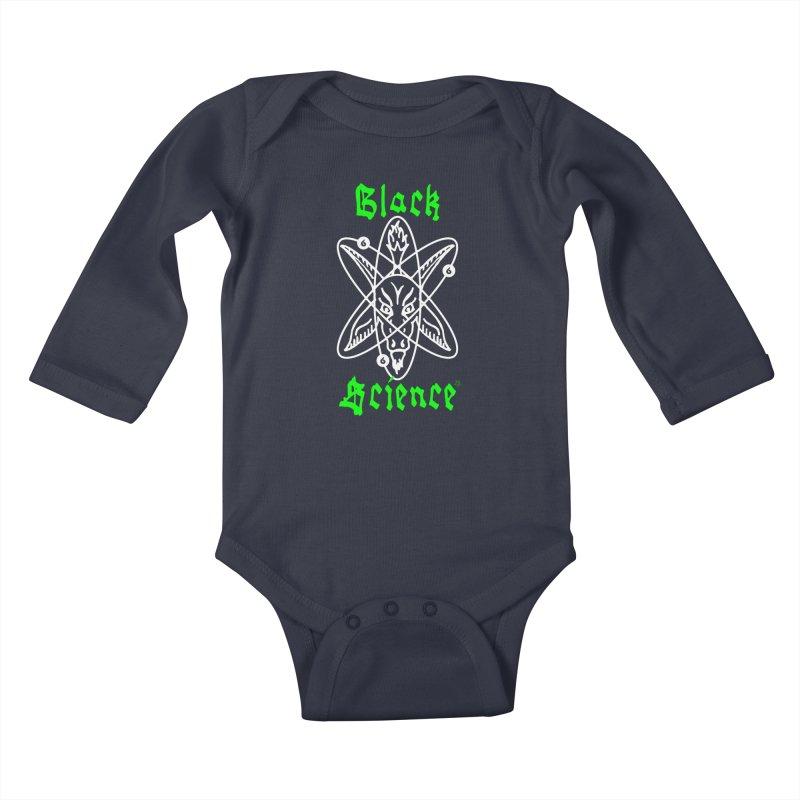 Black Science Kids Baby Longsleeve Bodysuit by ABELACLE.