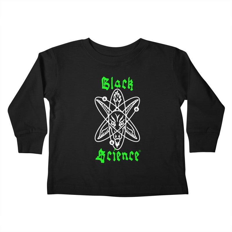 Black Science Kids Toddler Longsleeve T-Shirt by ABELACLE.