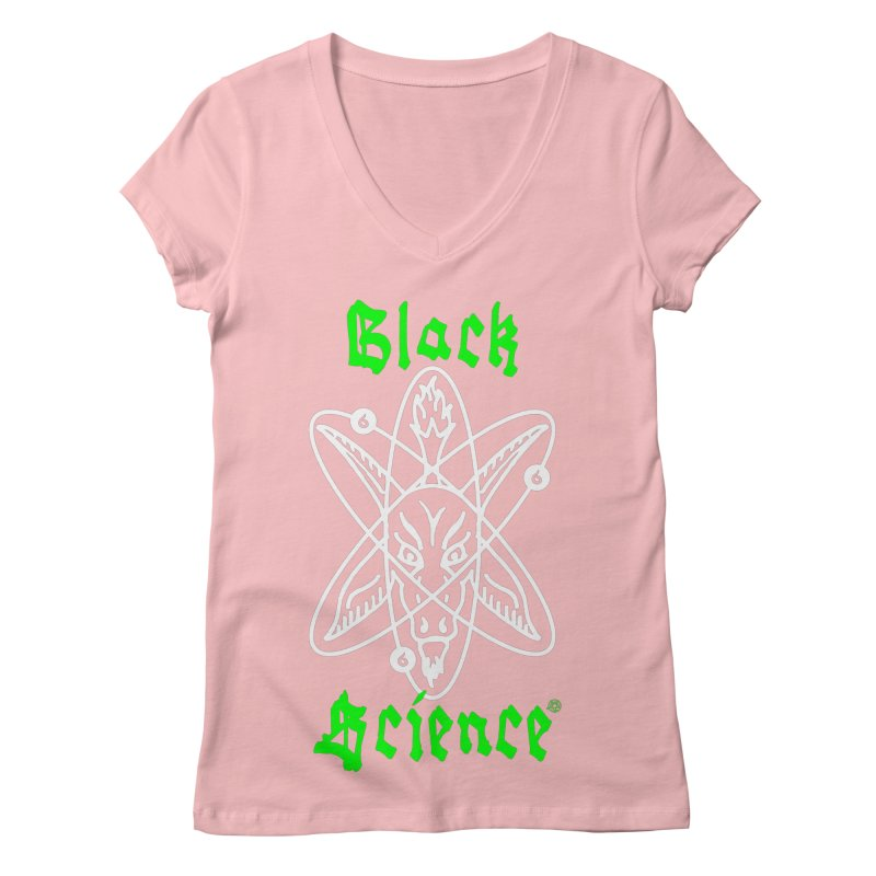 Black Science Women's V-Neck by ABELACLE.