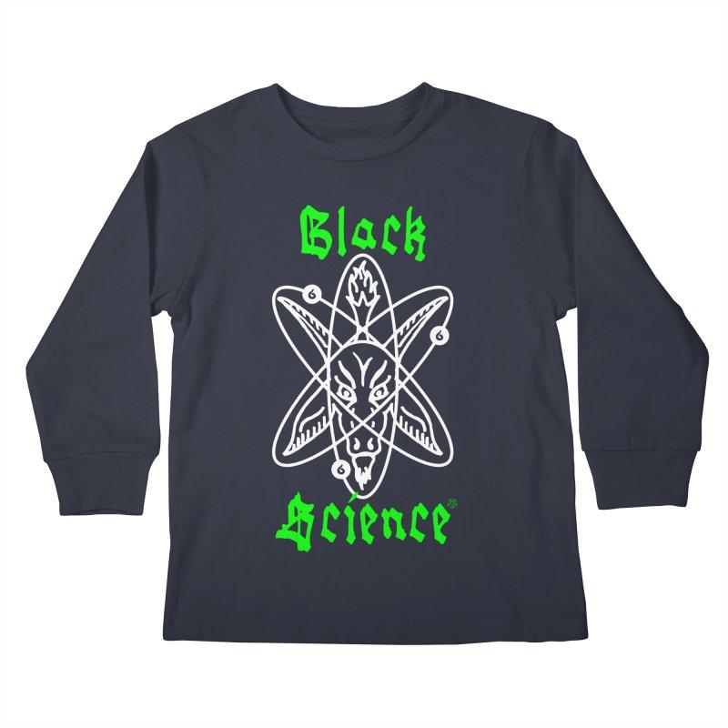 Black Science Kids Longsleeve T-Shirt by ABELACLE.
