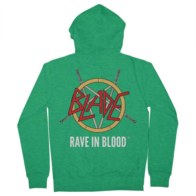 Rave in Blood Men's Zip-Up Hoody by ABELACLE.