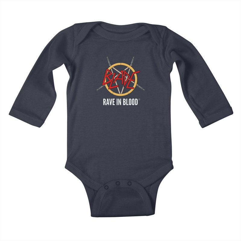 Rave in Blood Kids Baby Longsleeve Bodysuit by ABELACLE.