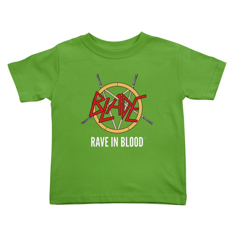 Rave in Blood Kids Toddler T-Shirt by ABELACLE.