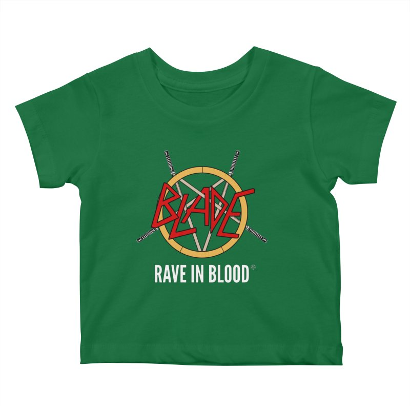 Rave in Blood Kids Baby T-Shirt by ABELACLE.