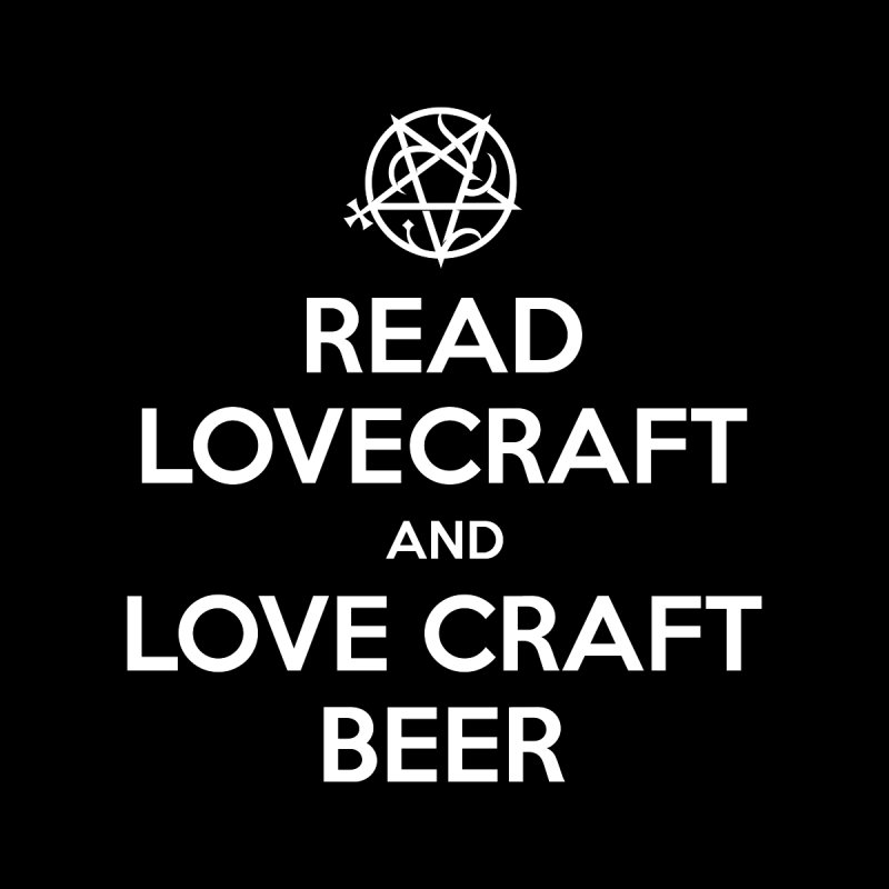 Lovecraftbeer Men's V-Neck by ABELACLE