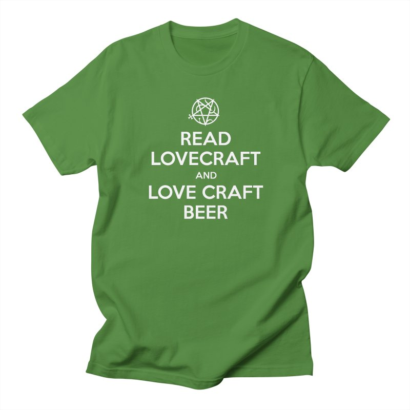 Read Lovecraft and Love Craft Beer Men's T-Shirt by ABELACLE.