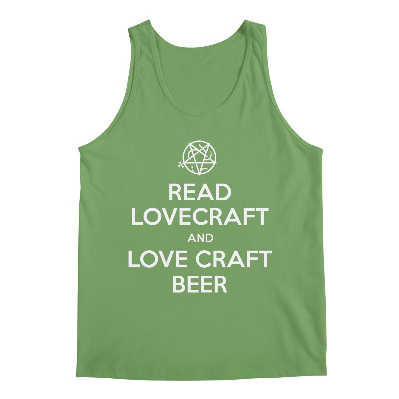 Read Lovecraft and Love Craft Beer Men's Tank by ABELACLE.