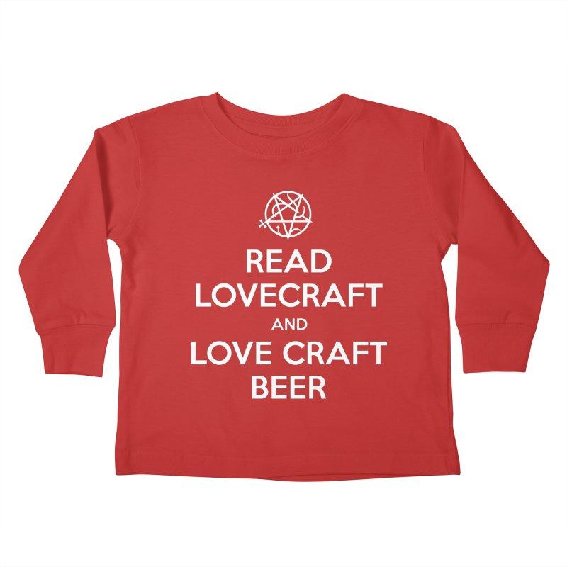 Lovecraftbeer Kids Toddler Longsleeve T-Shirt by ABELACLE