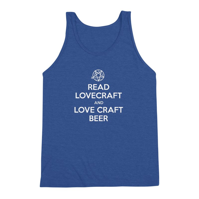 Lovecraftbeer Men's Triblend Tank by ABELACLE