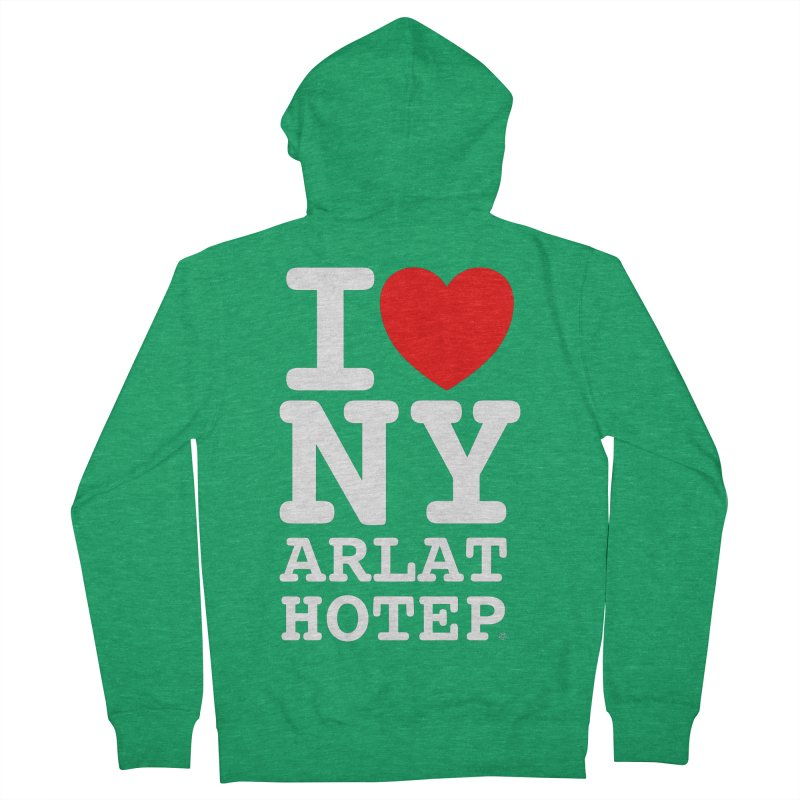 I Love Nyarlathotep - WHITE INK Women's Zip-Up Hoody by ABELACLE.