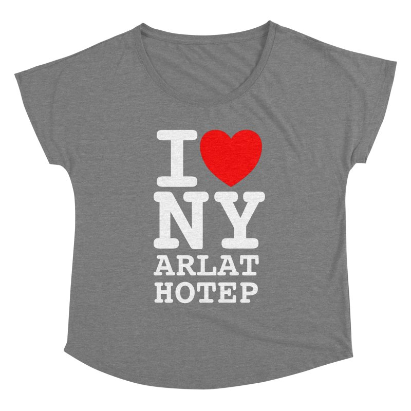 I Love Nyarlathotep - WHITE INK Women's Scoop Neck by ABELACLE.