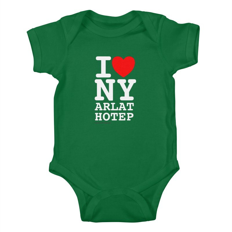 I Love Nyarlathotep Kids Baby Bodysuit by ABELACLE