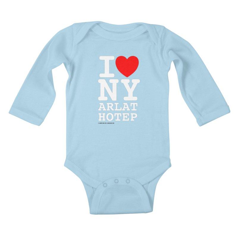 I Love Nyarlathotep Kids Baby Longsleeve Bodysuit by ABELACLE