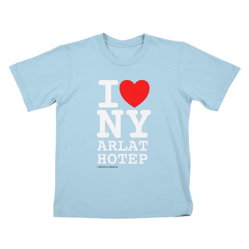 I Love Nyarlathotep Kids T-Shirt by ABELACLE