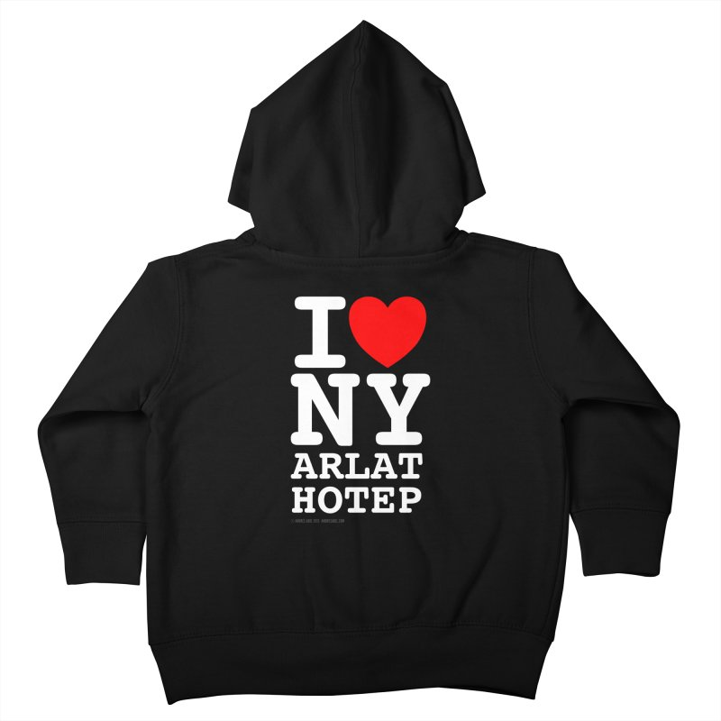 I Love Nyarlathotep Kids Toddler Zip-Up Hoody by ABELACLE