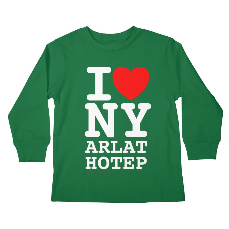 I Love Nyarlathotep Kids Longsleeve T-Shirt by ABELACLE